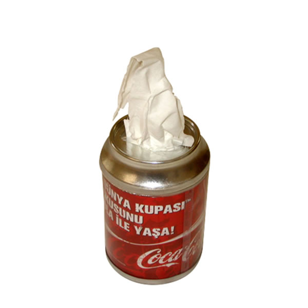 kutu cola kağıt mendil